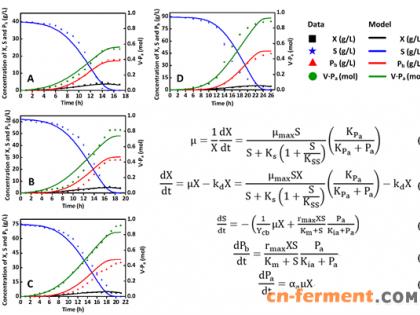 丁酸梭菌发酵生产1,3-丙二醇的新动力学模型