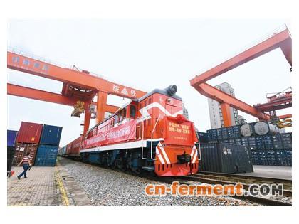 蚌西欧国际货运班列20货箱赖氨酸产品,共计2000吨,将首发白俄罗斯明斯克