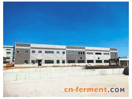 台山化学在云浮罗定县红霉素项目最新进展 发酵车间部分生产罐体已安装