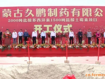 内蒙古久鹏制药2000吨盐酸多西环素、1500吨盐酸土霉素项目在通辽市开鲁县顺利开工